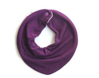 Baby bandana bib, purple baby bib, bandana bib, scarf bib, baby shower gift, unisex baby bib, drool bib, dark purple, plum colored baby bib