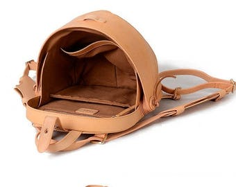 Small Leather Backpack, Leather Backpack Women, Leather Brown Backpack, Leather Backpack Men, Beetle Backpack, Leather Backpack Purse
