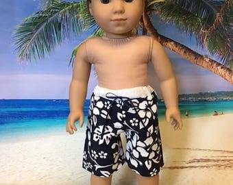 Swim Trunks fits American Girl Logan and 18 inch dolls