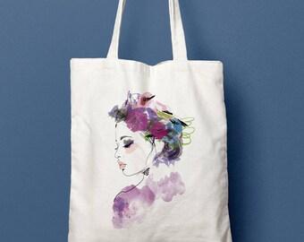 Tote bag - country profile - organic cotton canvas
