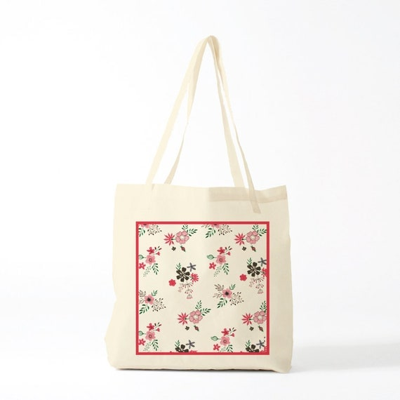 Country tote bag, canvas bag.