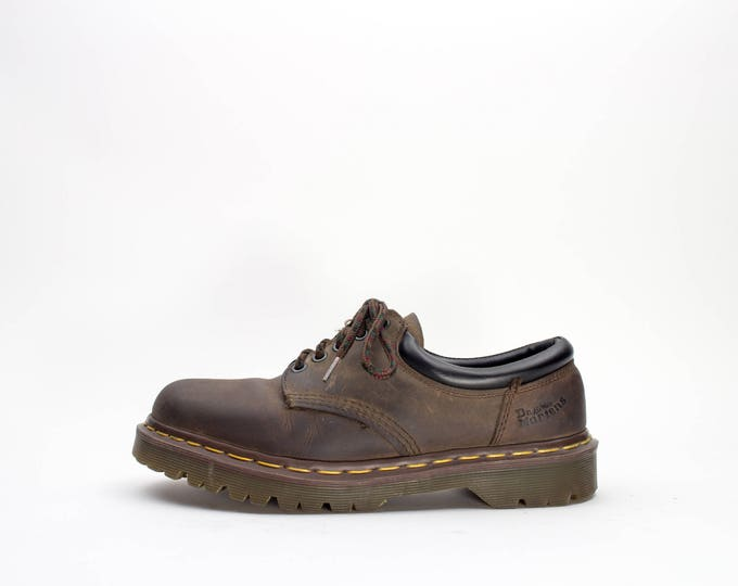 Vintage Dr. Martens 8053 | Perfect 90s Crazy Horse Docs | Made in England | Size US Women's 9  EU 39 - 40  UK 7