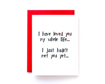 Anniversary Card for Husband - Valentines Day Card - I Love You Card - I've Loved You My Whole Life Yellow Daisy Paper Co