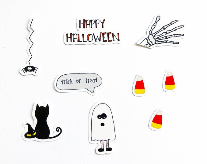 Halloween Creeper Sticker Set