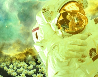 Astronaut Art Print, Space Art Print, Astronaut Digital Art, Space Digital Art, Surreal Art Print, Digital Download