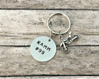 Personalized Motocross Keychain - Motocross Gifts - Dirt Bike Keychain - Racing - Dirt Track Racing - ATV Keychain - Gift for Him