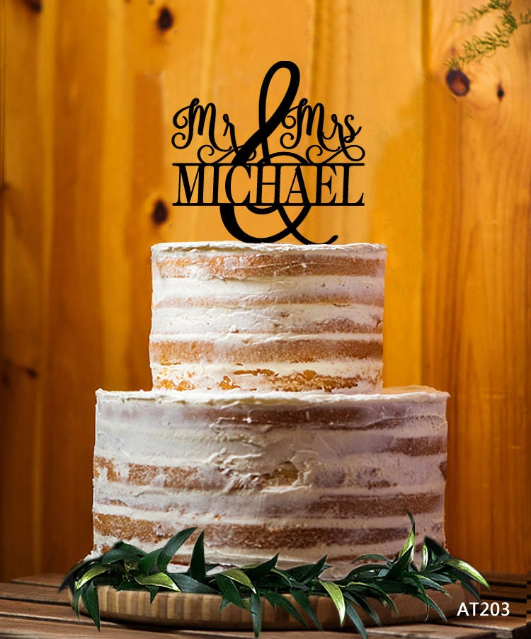Musical Wedding Cake Topper Mr Mrs Last Name Cake Topper