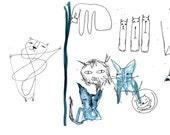 Zine, Art Zine, cats zines, picture book, artist book, concertina book, cat illustration, art book, cat drawing, small book, cute cat art
