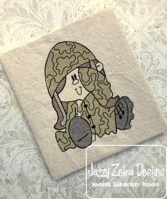 Kid Army Girl Sketch Embroidery Design - sketch embroidery design - army embroidery design - girl embroidery design - military embroidery