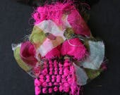 Fuschia pink silk handwov...