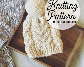 PATTERN // The Oslo Hat // Chunky Knit Beanie Pattern