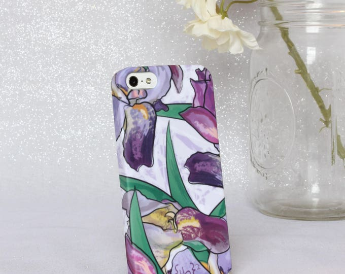 Iris iPhone 5 Case - Floral iPhone 5 Case - Floral iPhone Case - Purple Flower iPhone 5 Case - iPhone Case