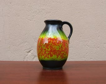 Vintage Vase by Jasba - West German Pottery - 60s / 70s - Mid Century Modern - Fat Lava era