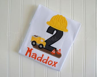 Construction Birthday Shirt, Construction Shirt, Birthday Shirt, Hard Hat Shirt, Dump Truck Birthday, Dump Truck Shirt, Construction Party