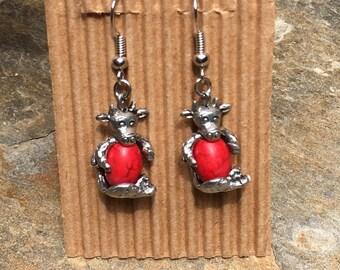 cow earrings cattle bull earrings gift for farmers wife farm animal earrings country earrings Lavish Lucy Designs cow earrings cute cows