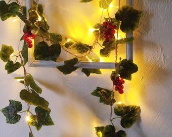string lights vine leaves fairy lights wedding decoration led garland lights holiday lights bedroom decor flowers