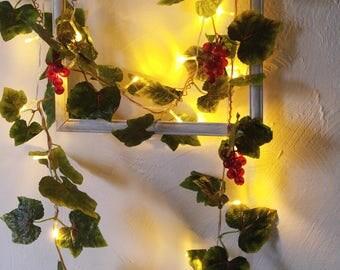 String Lights Physalis Flowers Fairy Lights Wedding - Flower lights for bedroom