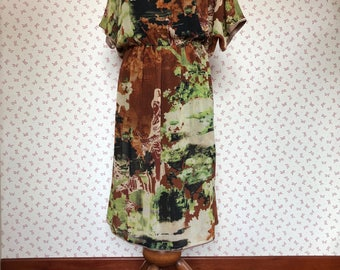 Vintage fabric  dress,  vintage woman dress , clothes for her, long dress,