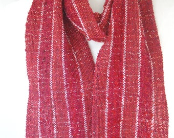 Red #1 Handwoven Scarf