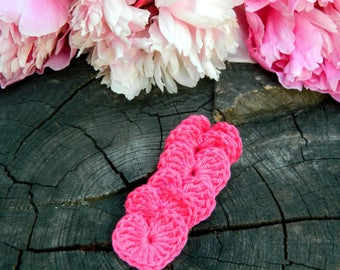 fuchsia crochet hearts pink country natural gift|wrapping rustic|wedding|decorations decor|for|girls|room wedding|party|favors summer|decor