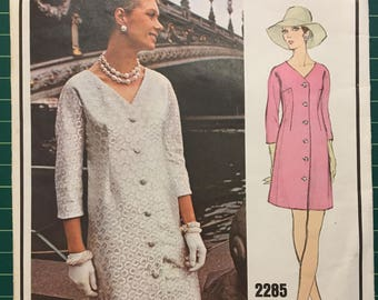 Vintage 1960s Sewing Pattern - Vogue Paris Original - Givenchy - 2285