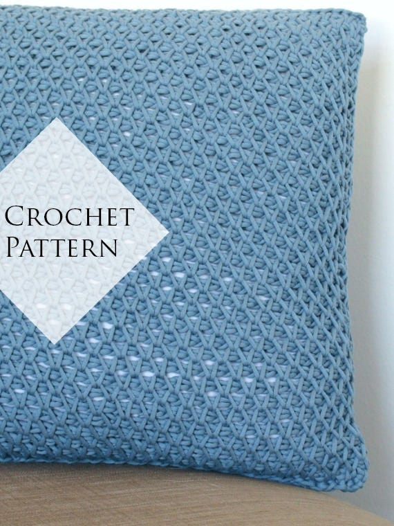 Cottage Throw Pillow Pattern Crochet PDF Pattern Tutorial
