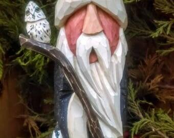 Carved Wooden Santa