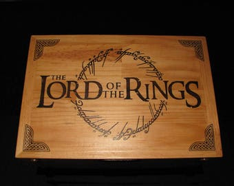 Lord of the rings, wooden chest,wood box