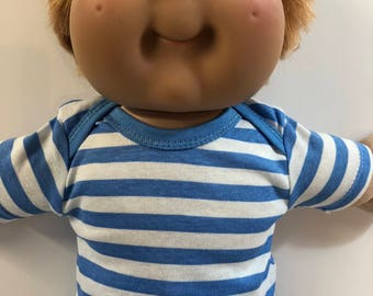 """Cabbage Patch Kids 16 inch Boy, Top ONLY 4.00 Dollars, Cool """"BLUE STRIPES"""" Top Only, 16 inch Cabbage Patch Clothes, Top Only - 4.00 Dollars"""