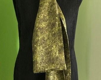 Double fancy silk scarf