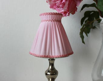 Pink pleated lamp shade