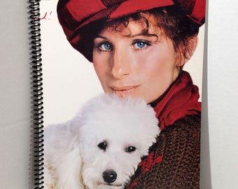 Barbra Streisand Songbird Album Cover Notebook Handmade Spiral Journal Blank Composition Book