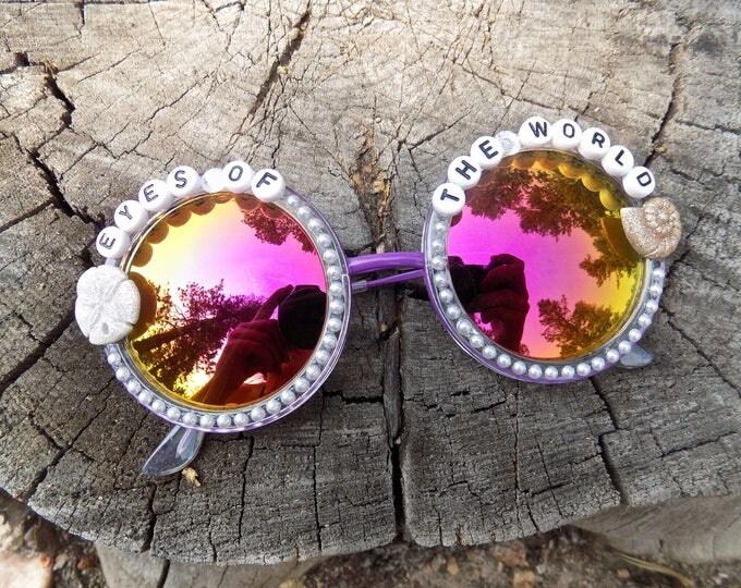 "Grateful Dead ""Eyes of the World"" hand decorated groovy glasses ~ Sometimes we live no particular way but our own ~"