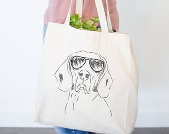Sagan the Coonhound Canvas Tote Bag - Gifts For Dog Owner, Hound Dog Tote Bag, Dog Lover Bag