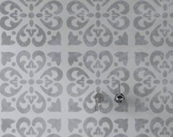 TANGIER Tile Stencil - Mediterranean Spanish Moroccan Wall Furniture Floor Craft Stencil - TANG01