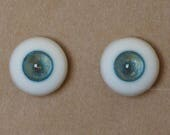 14mm Moonteahouse (Mth) Eyes - Handmade Blue / Gold Resin Eyes for BJD, ABJD and Dolls [17081]