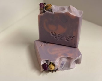 Lavender Rose Soap / Artisan Soap / Handmade Soap / Soap / Cold Process Soap
