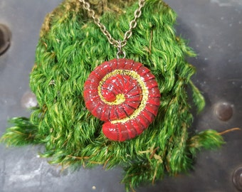 Red Millipede Necklace