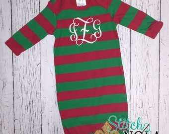 Monogrammed christmas pajamas   Etsy