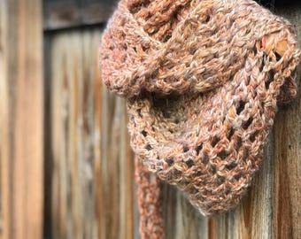 Crochet Shawl, Neutral Shawl, Crochet Scarf
