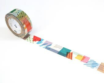 MT Peta Peta Washi Tape Decorative Paper Masking Tape Colorful Collage Pattern 7m