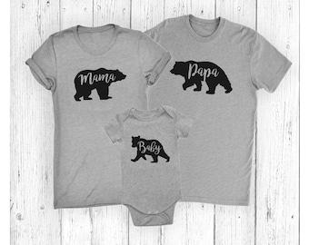 Mama Bear - Papa Bear - Baby Bear - Little Bear - Family Bear Set