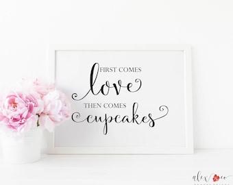 Printable Cupcake Sign. Cupcake Printable. Cupcake Sign. Printable Wedding Cupcake Sign. Wedding Cupcake Printable. Wedding Cupcake Sign.