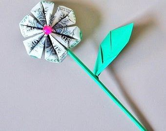 money flowers - dollar flowers - money origami flowers - money bouquet - money flower bouquet - gift for her - graduation gift - flower gift