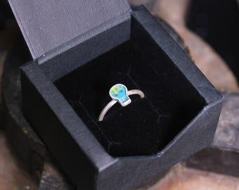 Memento Mori Skull Ring