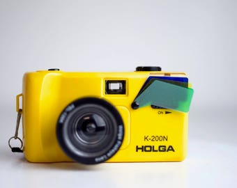Holga K-200N 35mm Point-and-Shoot Camera with Fisheye Lens and Color filters