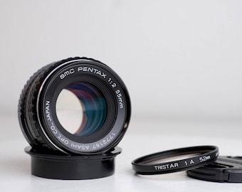 Pentax K Mount SMC Pentax 55mm F/2 Prime Lens with Caps