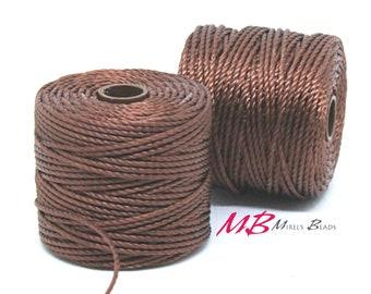 Brown S-Lon Macrame Cord 77 Yards, Nylon Beading Cord .5 mm