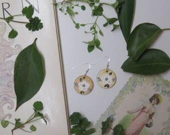 Mrs. de Winter Hand Painted Earrings