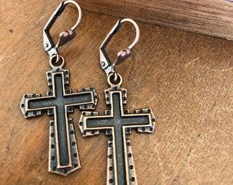 Cross Earrings Women's earrings